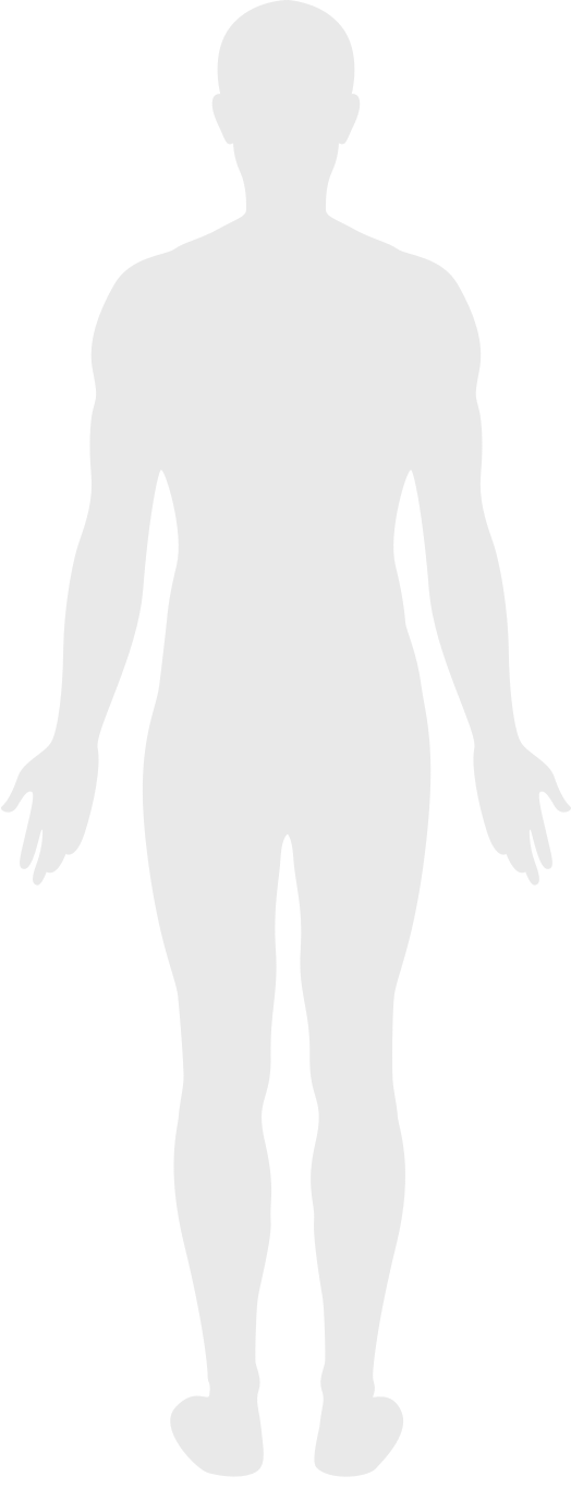 silhouette of the back of a human body