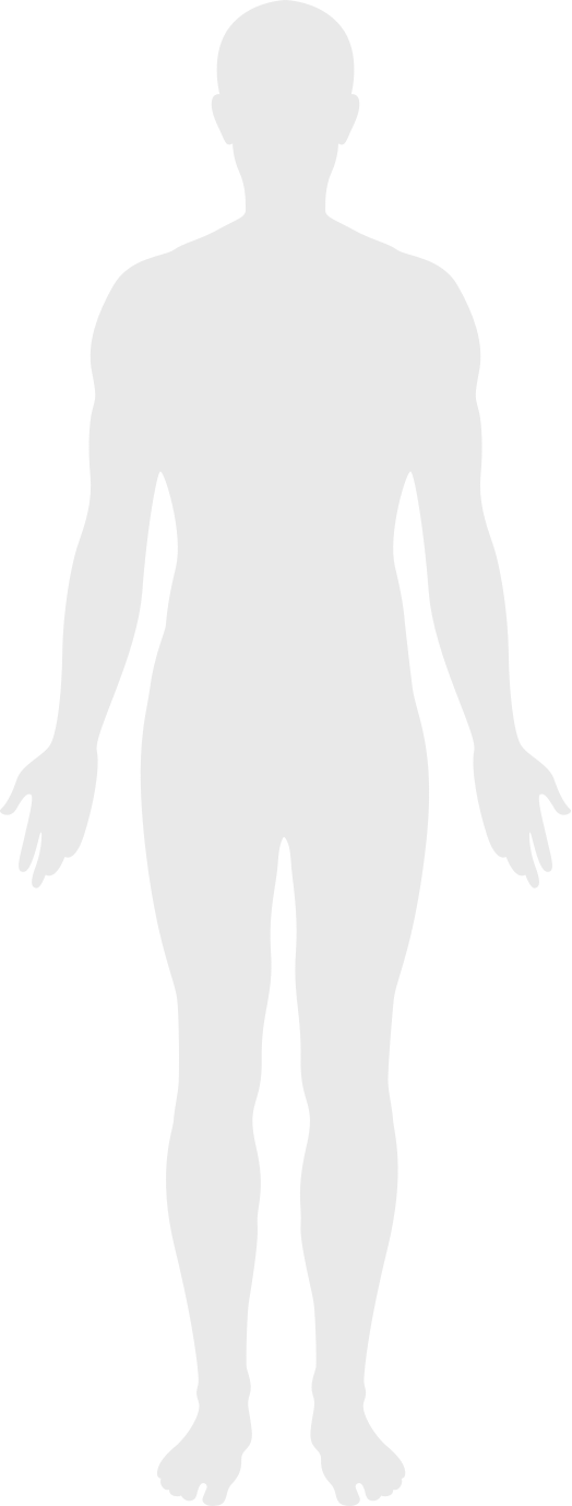silhouette of the front of a human body